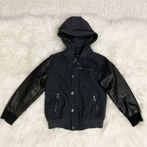 Urban Republic grey black hoodie zip up jacket
